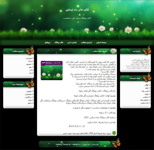 قالب وبلاگ گل های بابونه